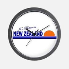 Its Better in New Zealand Wall Clock