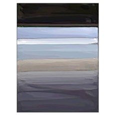 Pompey Painted Beach Poster