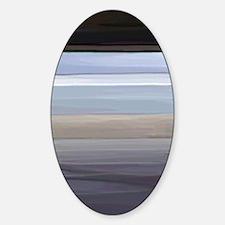 Pompey Painted Beach Sticker (Oval)