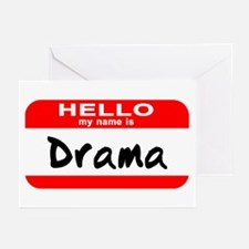 Hello My Name Is Drama Greeting Cards (Pk of 10)