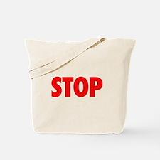 STOP red Tote Bag