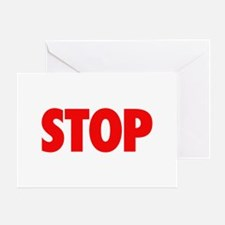 STOP red Greeting Card