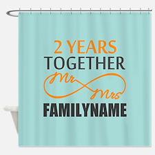 2nd Anniversary Infinity Personaliz Shower Curtain