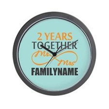 2nd Anniversary Infinity Personalized Wall Clock