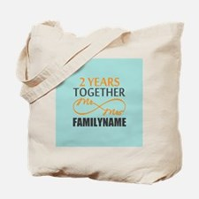 2nd Anniversary Infinity Personalized Tote Bag