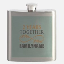 2nd Anniversary Infinity Personalized Flask