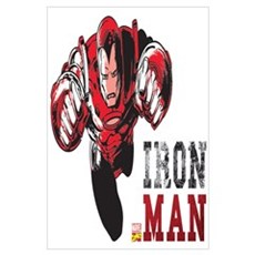 Iron Man Color Splash Wall Art Poster