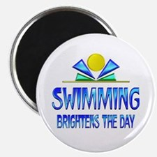 Swimming Brightens the Day Magnet