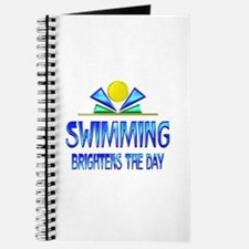 Swimming Brightens the Day Journal