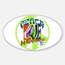 Vintage Peace Oval Decal