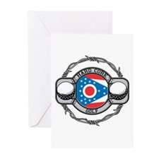 Hard Core Ohio Golf Greeting Cards (Pk of 20)