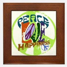 Vintage Peace Framed Tile