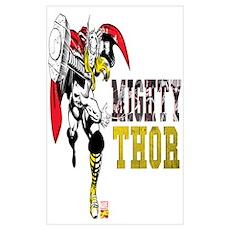 Thor Color Splash Wall Art Poster