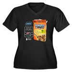 FreeThought Flakes Women's Plus Size V-Neck Dark T