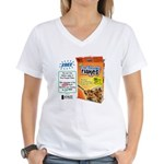 FreeThought Flakes Women's V-Neck T-Shirt