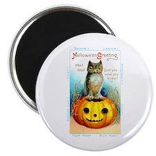 """Halloween Owl & Pumpkin 2.25"""" Magnet (10 pack)"""