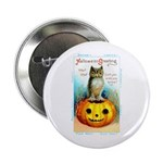 Halloween Owl & Pumpkin Button