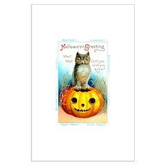 Halloween Owl & Pumpkin Posters