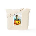 Halloween Owl & Pumpkin Tote Bag
