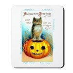 Halloween Owl & Pumpkin Mousepad