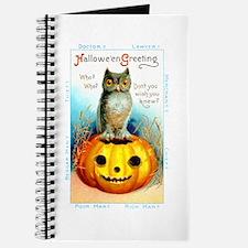 Halloween Owl & Pumpkin Journal