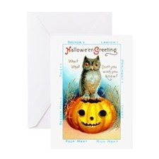 Halloween Owl & Pumpkin Greeting Card