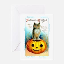Halloween Owl & Pumpkin Greeting Card