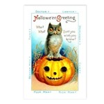 Halloween Owl & Pumpkin Postcards (Package of 8)