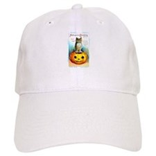 Halloween Owl & Pumpkin Baseball Cap
