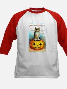 Halloween Owl & PUmpkin (Front) Tee