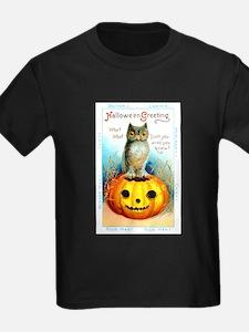 Halloween Owl & PUmpkin (Front) T