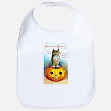 Halloween Owl & Pumpkin Bib
