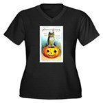 Halloween Owl & PUmpkin (Front) Women's Plus Size