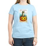 Halloween Owl & PUmpkin (Front) Women's Light T-Sh