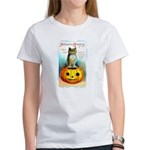 Halloween Owl & PUmpkin (Front) Women's T-Shirt