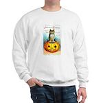 Halloween Owl & PUmpkin (Front) Sweatshirt