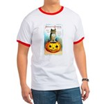 Halloween Owl & Pumpkin Ringer T