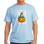 Halloween Owl & Pumpkin Light T-Shirt