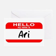 Hello My Name is Ari Greeting Cards (Pk of 10)