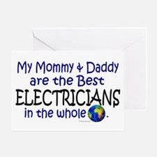 Best Electricians In The World Greeting Card