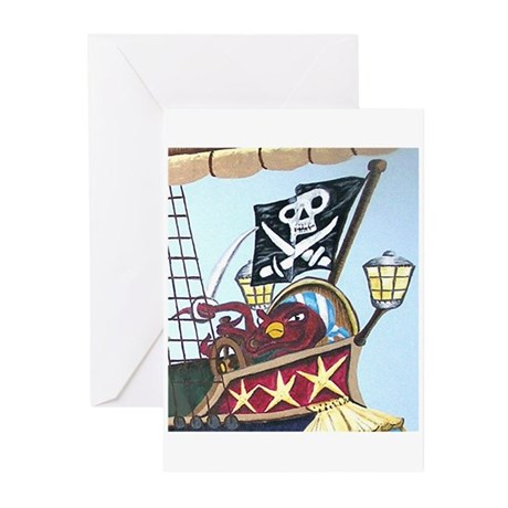 Pirate Octopus Greeting Cards (Pk of 20)