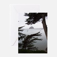 Morro Rock Seen through the Trees Card