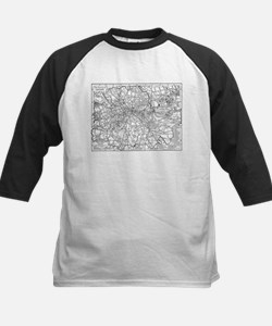 Vintage Map of London England (191 Baseball Jersey
