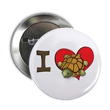 I heart turtles Button