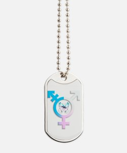 transgender butterfly symbol Dog Tags
