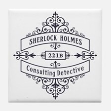 Consulting Detective (blue) Tile Coaster