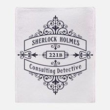 Consulting Detective (blue) Throw Blanket