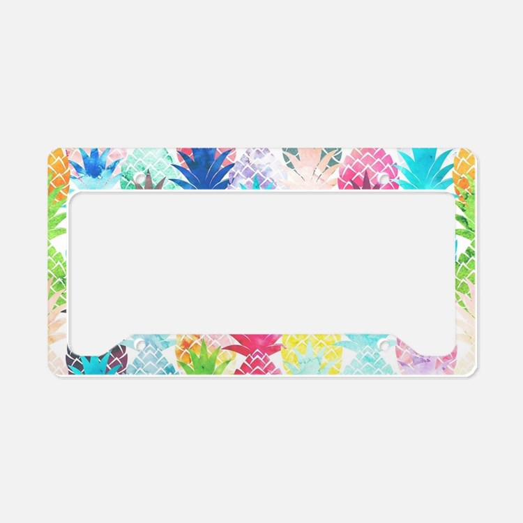 Hawaiian Pineapple Pattern Tr License Plate Holder