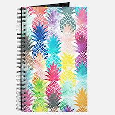 Hawaiian Pineapple Pattern Tropical Waterc Journal