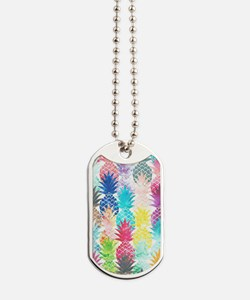 Hawaiian Pineapple Pattern Tropical Water Dog Tags